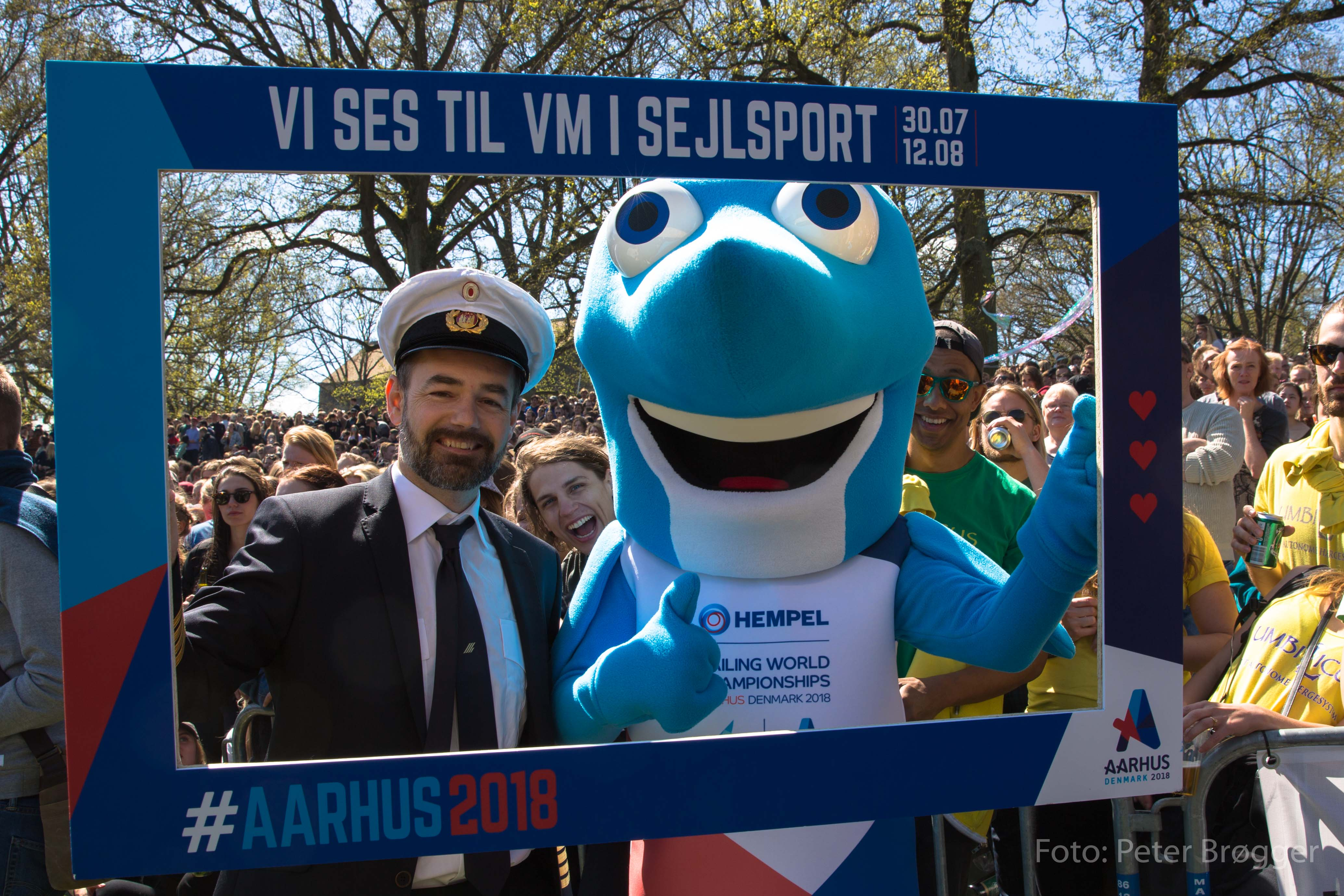 Sejlfiksen, mascot and eye-catcher at WC in sailing 2018