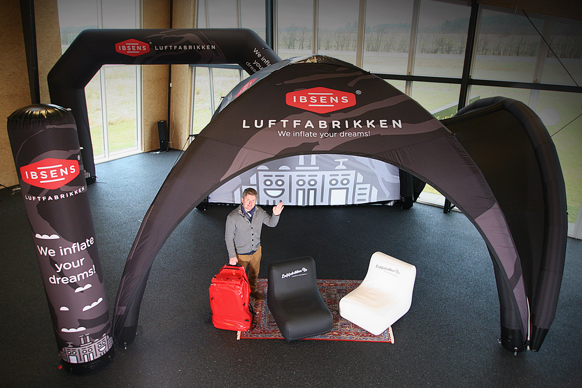Inflatable tents Tuborg & AXION event tents for outdoor and indoor events - Ibsens Fabrikker