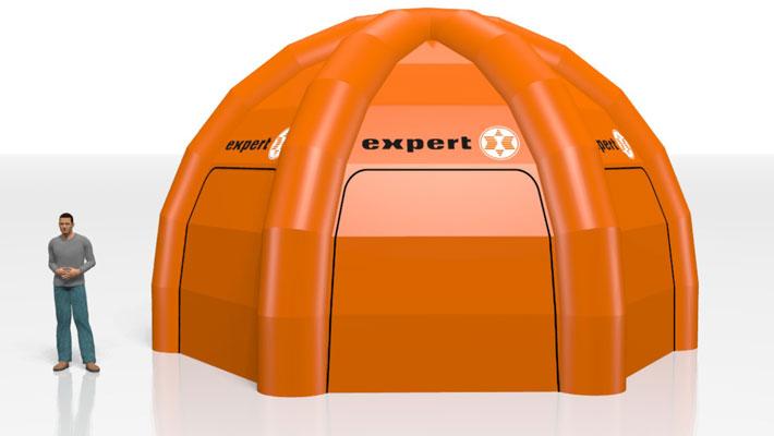 Oppustelige telte, fra 3D til virkelighed