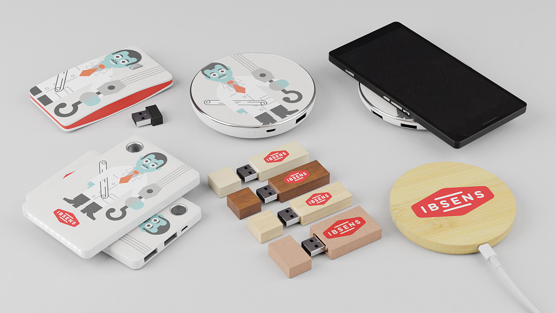 Electronic company gifts with logo