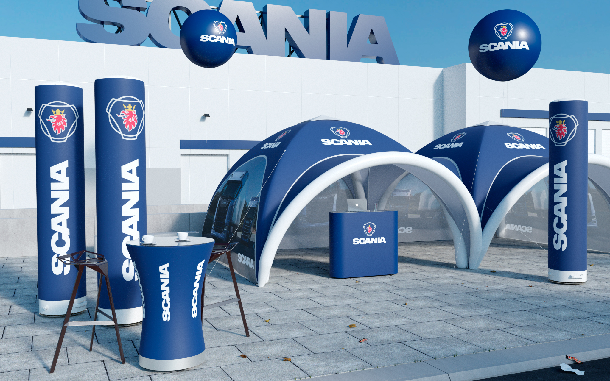 Axion Nordic inflatable products for events
